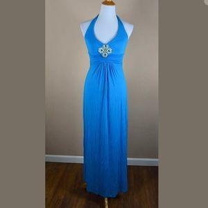 Cache Jersey Center Embellishment Maxi Dress